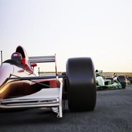 Briefmarken      des Themas Autosport  '