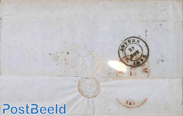 Folding letter from Antwerpen to Amsterdam. See Anvers mark.