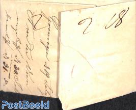 Folded letter from Groningen to Bordeaux
