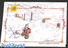 Europa, old postal roads booklet
