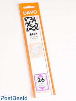 Einfache Klemtaschen aus transparentem Ned. Größen T26, T36, T56 und T135