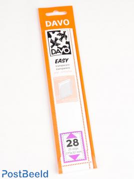 Einfache Klemtaschen aus transparentem Exp. Größen T28, T41, T56 und T135