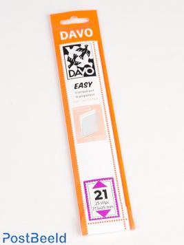 Einfache Klemtaschen aus transparentem T21 (215 x 25) 25 Stück