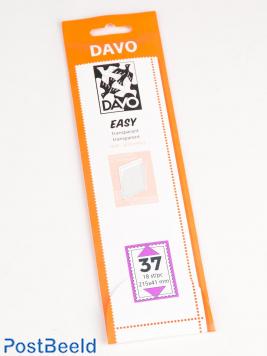 Einfache Klemtaschen aus transparentem T37 (215 x 41) 18 PC