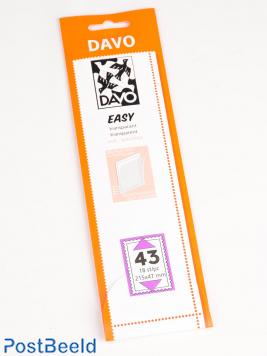 Einfache Klemtaschen aus transparentem T43 (215 x 47) 18 PC
