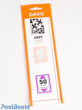 Easy protector mounts of transparent T50 (215 x 54) 18 pcs