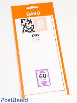 Einfache Klemtaschen aus transparentem T60 (215 x 64), 10 Stück