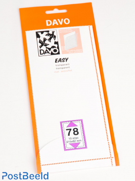 Easy protector mounts of transparent T78 (215 x 82) 10 pcs