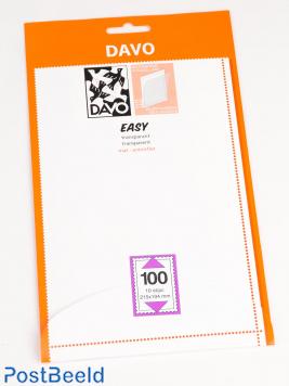 Einfache Klemtaschen aus transparentem T100 (215 x 104) 10 PC
