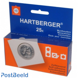 25 Self Adhesive coin holders 43mm