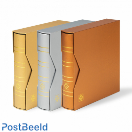 """Lighthouse Numis Ringbinder Classic with slipcase """"Metallic"""" silver"""