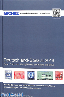 Michel Germany Specialized catalogue Germany part 2 may 1945 until present. 2019 edition