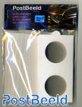 25 Coin holders self-adhesive 32.5mm