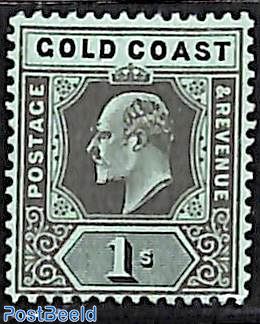 1Sh, WM multiple CA-Crown, Stamp out of set