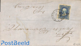 Folding letter to Vera Cruz