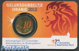 10 cent 2012 Geluksdubbeltje coincard