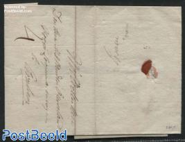 Folding letter from Grave to Arnhem (4s)