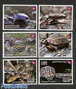 Reptiles, turtles 6v