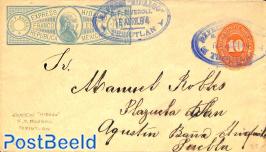 Envelope 10c , Express Hidalgo