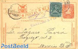 Postcard 2c, uprated