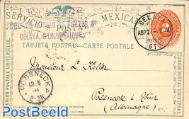 Postcard 3c from CELATA to Germany