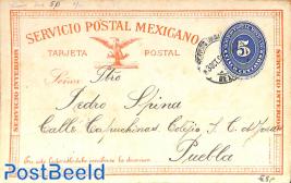 Postcard 5c, used