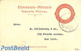 Postcard 4c to New York