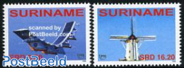 UPAEP 2v (plane & windmill)