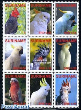 Parrots 9v, sheetlet