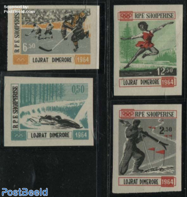 Olympic Winter Games 4v imperforated