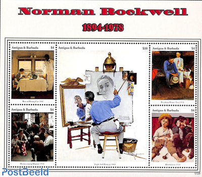 Norman Rockwell paintings 5v m/s