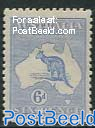 6p, Type II, Stamp out of set