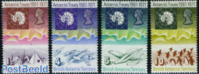 Antarctic treaty 4v