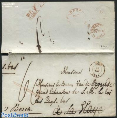 Letter from Gand to s-Gravenhage, forwarded to s-Hertogenbosch