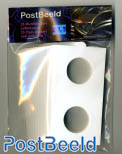 25 Coin holders self-adhesive 30mm