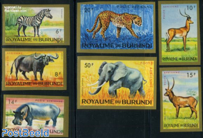 Animals 7v imperforated