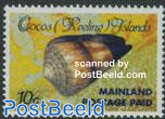 Mainland postage paid 1v with diagonal lines