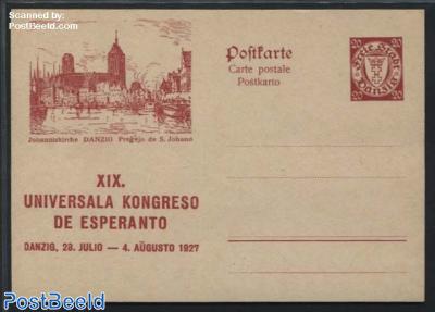 Illustrated Postcard, Esperanto, 20pf, Johanniskirche