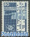 I.T.U. centenary 1v, fluorescent