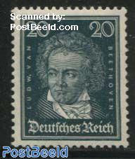 20pf, v. Beethoven, Stamp out of set