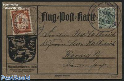 Flugpostkarte, sent by Postluftschiff Schwaben