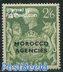 2/6Sh, Morocco Agencies, Stamp out of set