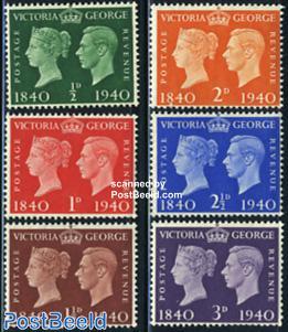 Stamp centenary 6v