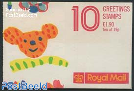 Greeting stamps booklet (outside cover may vary)