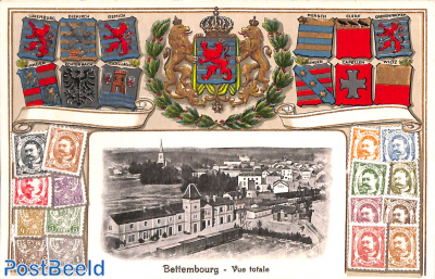 Bettembourg, coat of arms, stamps