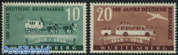 Wurttemberg, Stamp centenary 2v