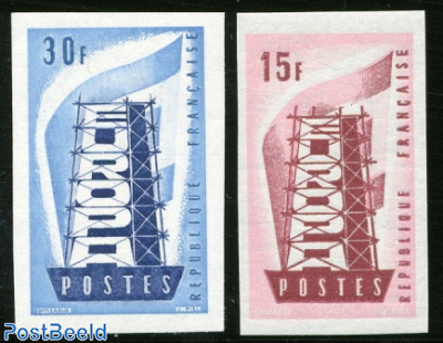 Europa 2v, imperforated