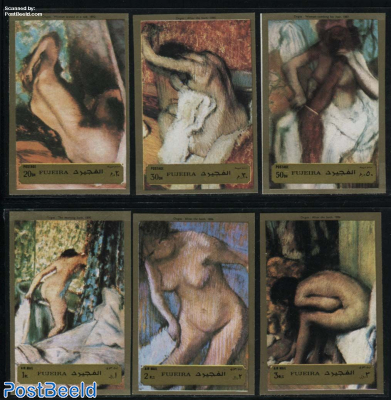 Degas paintings 6v, imperforated