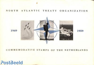 Original Dutch promotional folder from 1959, NATO stamps, English language