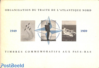 Original Dutch promotional folder from 1959, NATO stamps, French language